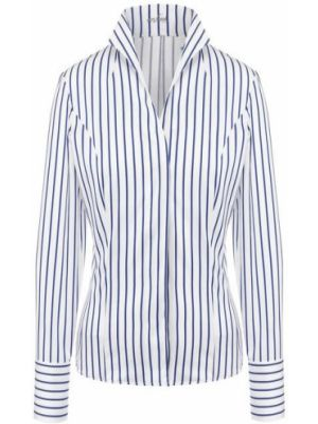 Хлопковая рубашка - синяя Van Laack