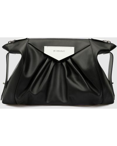 Кожаный черный клатч Givenchy
