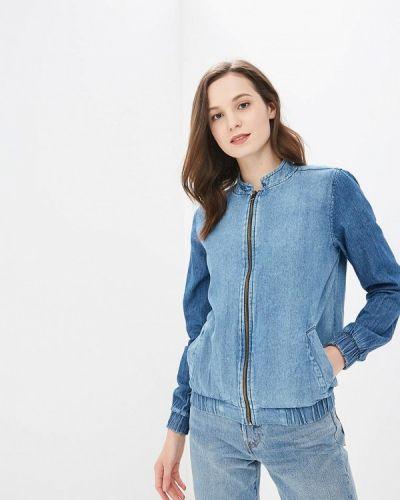 Джинсовая куртка весенняя синий Modis