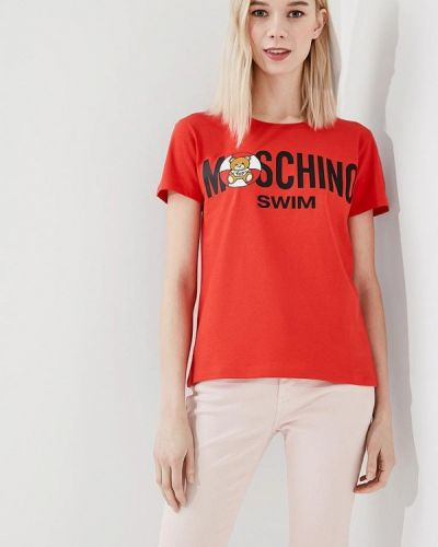 Красная футболка Moschino