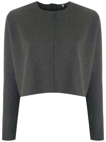 Шелковая блузка - серая Olympiah