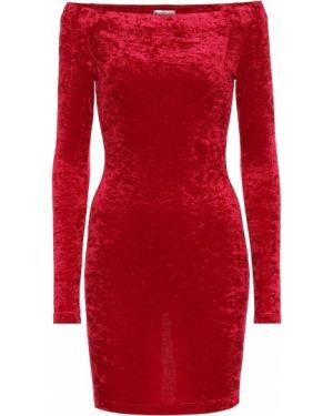 Платье мини через плечо с открытыми плечами Balenciaga