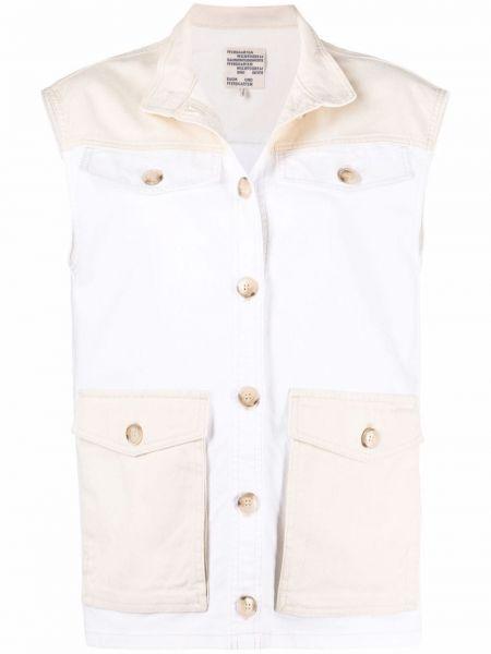 Хлопковая белая куртка с карманами без рукавов Baum Und Pferdgarten