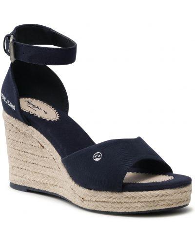 Sandały espadryle - granatowe Pepe Jeans