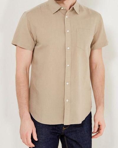 Бежевая рубашка с короткими рукавами Wrangler