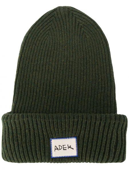 Prążkowana zielona czapka wełniana Ader Error