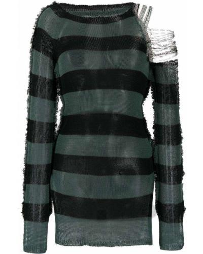 Czarny bawełna prosto sweter z okrągłym dekoltem Marni
