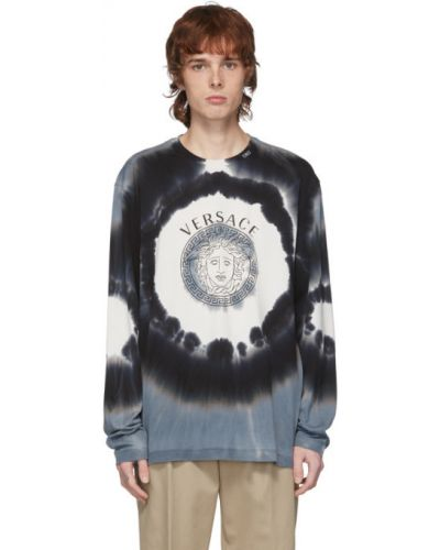 Koszula z długim rękawem z logo długa Versace