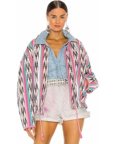Хлопковая ватная розовая куртка Isabel Marant étoile