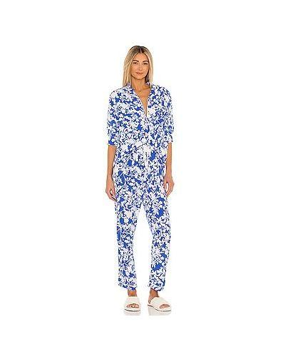 Пижамный синий купальник с поясом Maaji