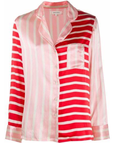 Пижамная розовая свободная пижама на пуговицах Chinti & Parker