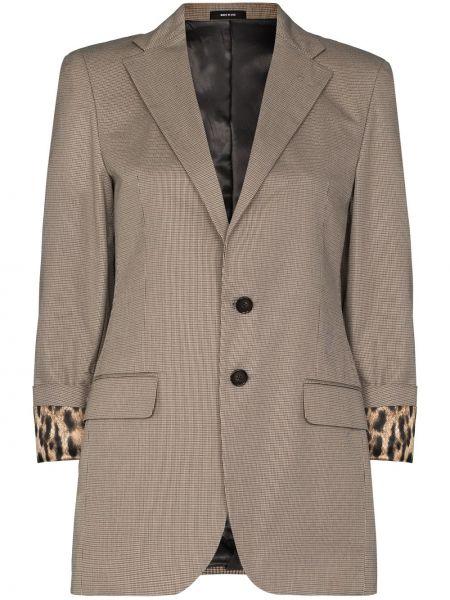 Хлопковый серый пиджак R13