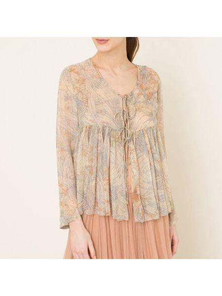 Блузка с длинным рукавом с люрексом с завязками Mes Demoiselles
