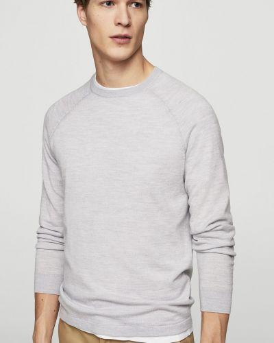 Серый свитер однотонный Mango Man