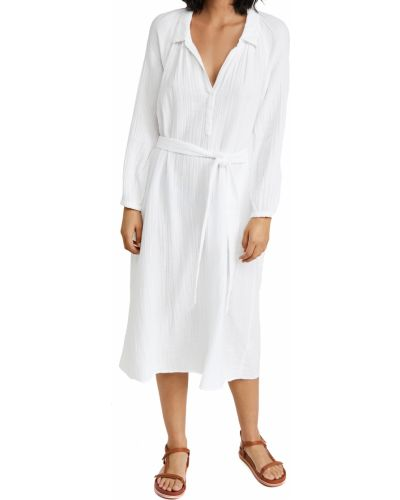 Белое платье макси с длинными рукавами с поясом Xírena