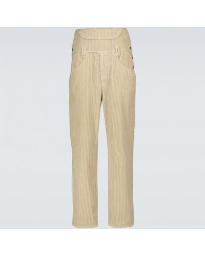 Bawełna prosto kombinezon spodnie sztruksowe zapinane na guziki Isabel Marant