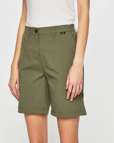 Спортивные шорты зеленый с карманами Jack Wolfskin