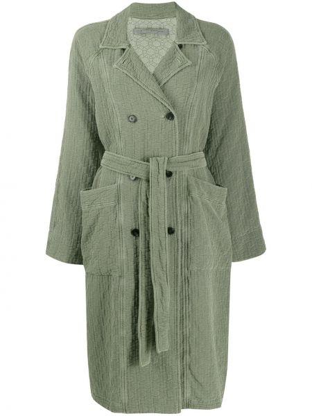Długi płaszcz - zielony Raquel Allegra