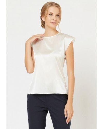 С рукавами шелковая белая блузка Silk Me