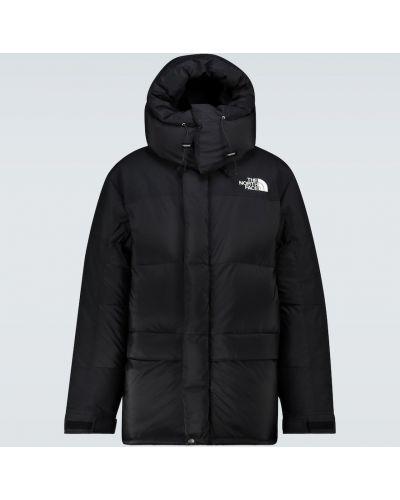 Нейлоновая черная куртка винтажная с декоративной отделкой The North Face