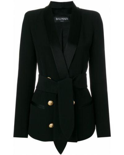 Двубортный пиджак смокинг Balmain