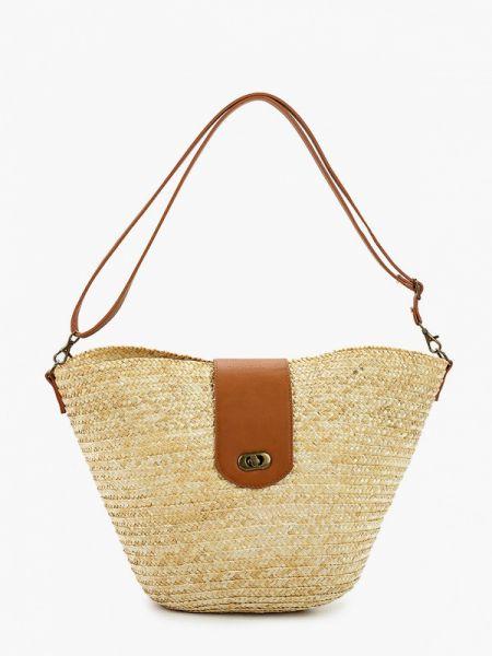 Пляжная сумка соломенная бежевый Code