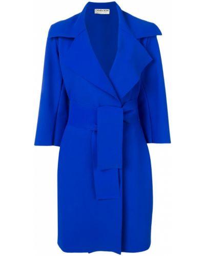 Синее пальто с капюшоном Le Petite Robe Di Chiara Boni
