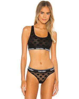 Черный купальник прозрачный с сеткой Calvin Klein Underwear