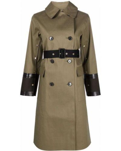 Зеленое пальто классическое Mackintosh
