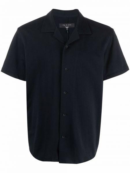 Czarna koszula bawełniana krótki rękaw Rag & Bone