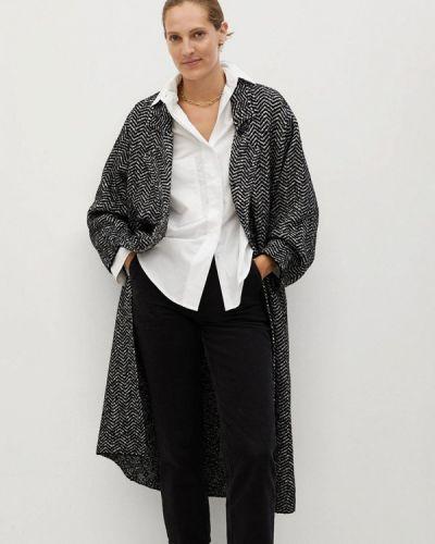 Черное пальто Mango
