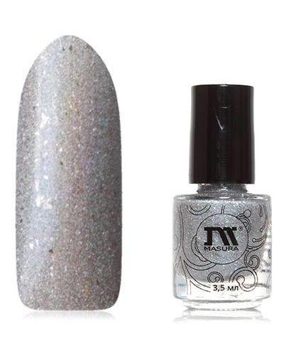 Лак для ногтей серебряного цвета Masura