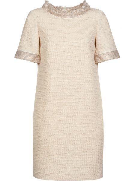 Хлопковое бежевое платье на молнии Ballantyne