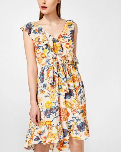 Платье весеннее бежевое Pedro Del Hierro