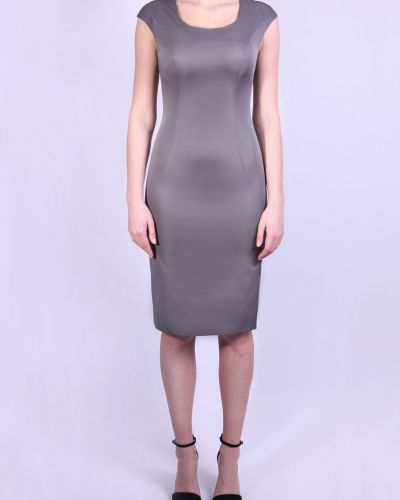 Платье миди серое деловое Lacywear