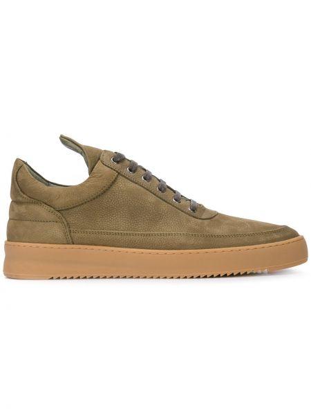 Кожаные кроссовки - зеленые Filling Pieces
