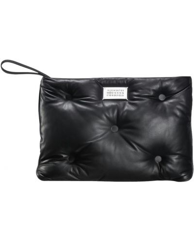Czarna kopertówka elegancka pikowana Maison Margiela