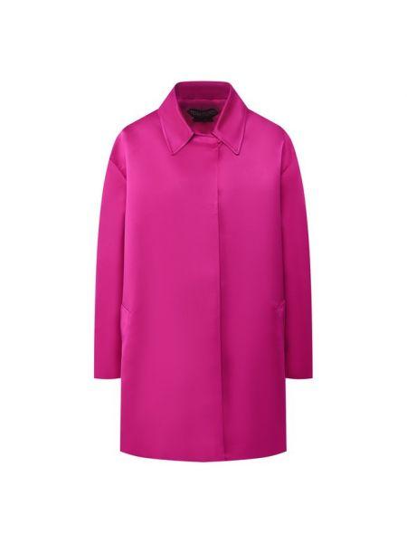 Шелковое розовое пальто с подкладкой Tom Ford