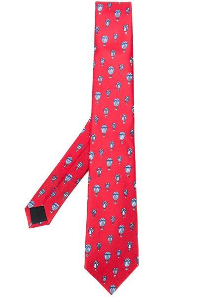 Красный шелковый галстук с подкладкой Lanvin