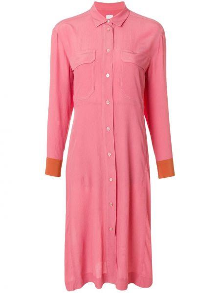 Розовое классическое платье Paul Smith