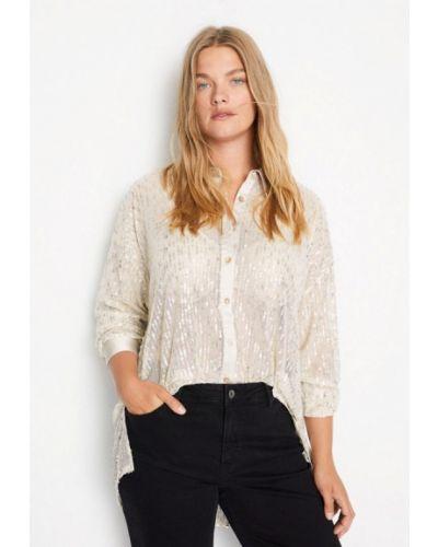 Серебряная блузка с длинным рукавом с длинными рукавами Violeta By Mango