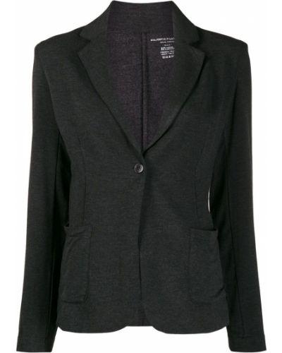 Черный удлиненный пиджак Majestic Filatures