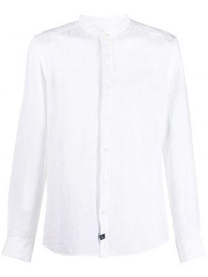 С рукавами белая рубашка с вырезом Fay