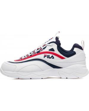 Кожаные кроссовки - белые Fila