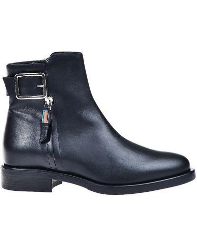 Кожаные ботинки - черные Albano