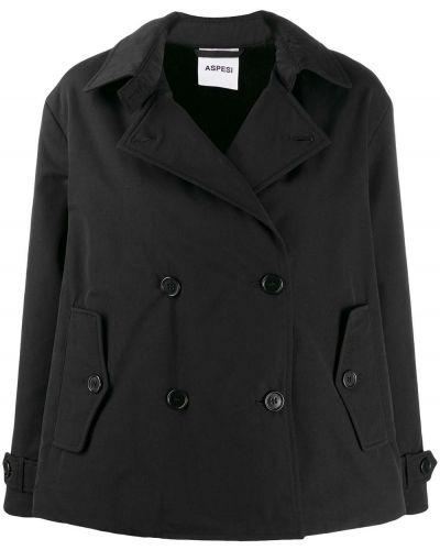 Длинное пальто без воротника с воротником Aspesi