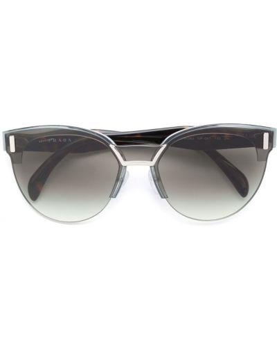 Солнцезащитные очки кошачий глаз металлические Prada Eyewear
