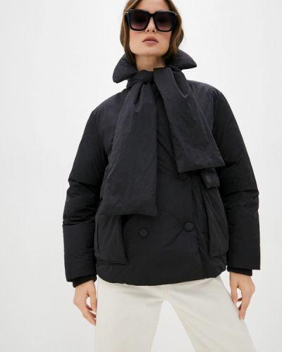 Черная куртка утепленная Trussardi