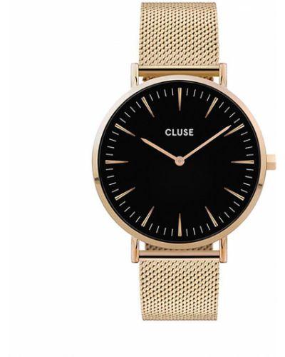 Złoty zegarek - czarny Cluse