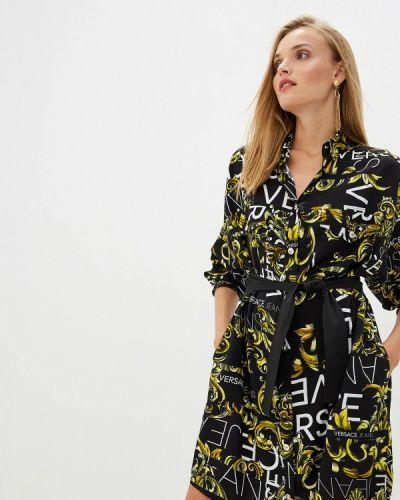 Джинсовое платье - черное Versace Jeans